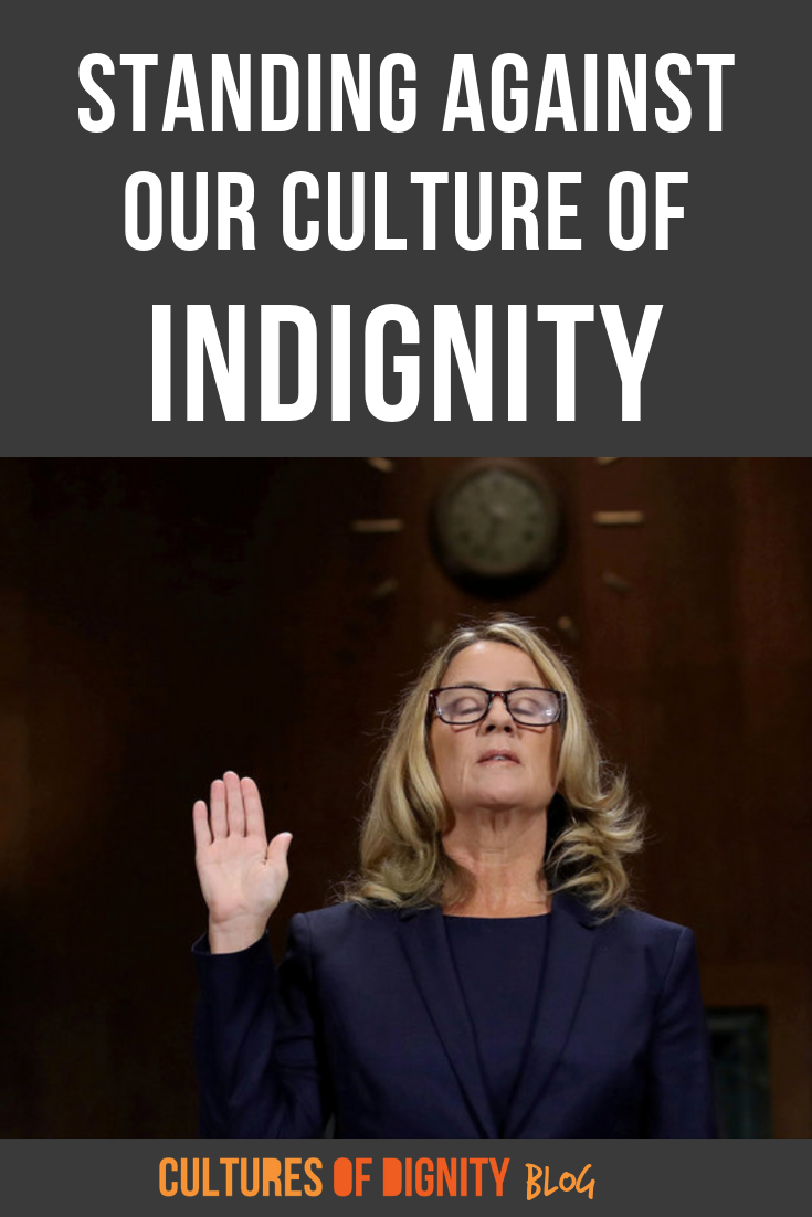 Standing against our culture of indignity. How can we move past the betrayal and injustice we see in our world? How do we talk to young people about the Kavanaugh hearings? What do the Kavanaugh hearings mean for our communities?